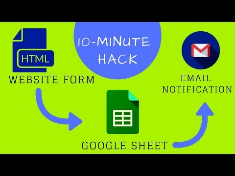 HTML Form To Google Sheets : Send Automated Email (Updated 2019)