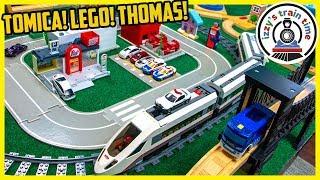 LEGO TOMICA TOMY THOMAS TOWN?! Mega City Awesomeness
