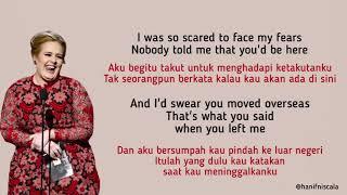 Adele - When We Were Young | Lirik Terjemahan