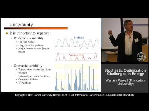 """Warren Powell, """"Stochastic Optimization Challenges in Energy"""""""
