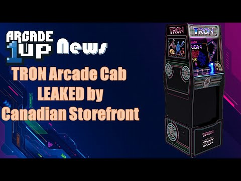Tron Arcade1up Cab leaked by Canadian Storefront from ConStorm Entertainment