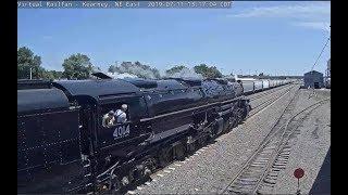 Big Boy 4014 passes Kearney, NE!