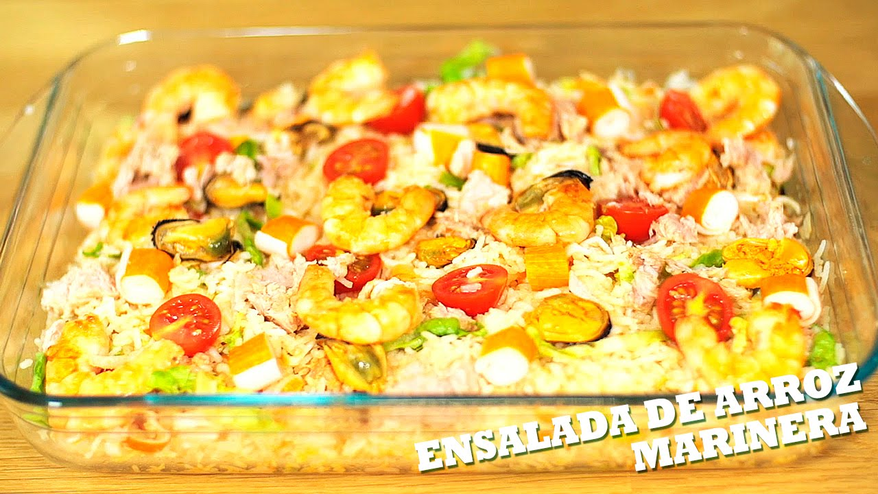 Ensalada de arroz marinera youtube - Ensalada de arroz light ...