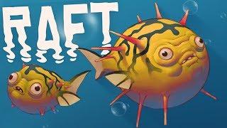 RAFT - New Update! - Giant Bird Predator, Blowfish and GIANT ISLANDS !? - RAFT Gameplay Highlights