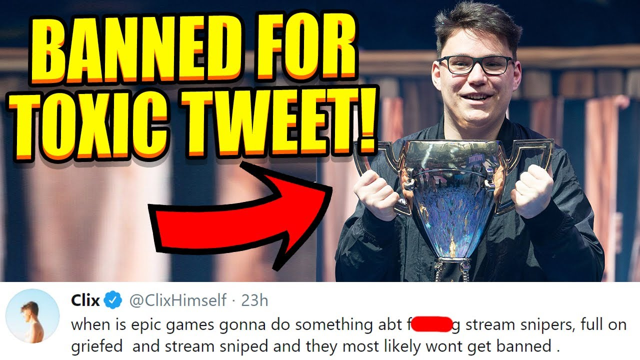 Epic EXPOSES The Truth About BANNING the World Cup Champ! Clix Demands BAN On Stream Snipers!