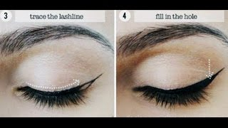 Como hacer un delineado cat eyes - Perfect Winged Eyeliner Tutorial Cat Eye Liner