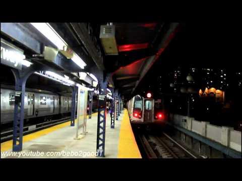 BMT Subway: Coney Island & Manhattan Bound R160 (Q) Train at Ocean Parkway