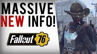 FALLOUT 76 HUGE INFO! Player Factions, Main Story, No Dialogue, Difficulty & More Gameplay Features!