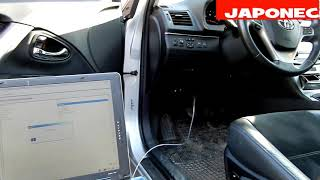 Toyota Avensis T27 how to seat belt chime disabled / test TIS Techstream