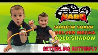 ИНФИНИТИ НАДО распаковка  Glittering Butterfly, Cold Shadow,  Shadow Shark & Delver Mecha