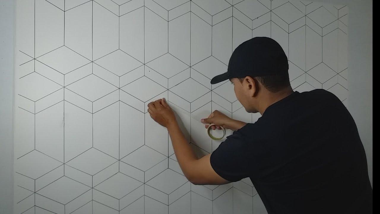 Muito Fácil essa Pintura Decorativa  Efeito 3D, Passo a Passo DIY