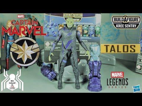 YON-Rogg Set di 3 Legende Sentinella Kree BAF Figura NICK FURY CAPITAN MARVEL