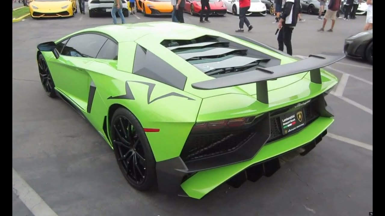 Lime Green Lamborghini Aventador Sv Youtube