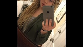 14 year old white girl get attacked on social media over her blond box braids look at description