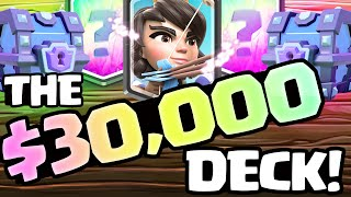 Clash Royale ♦ $30,000 DECK! ♦ MAXED Legendary Princess!