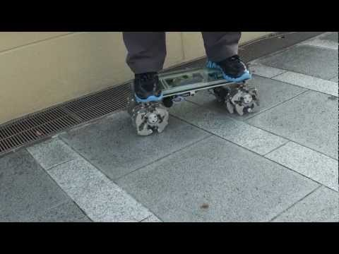 Land Crawler eXXtreme (Ridable 24 Legged Motor Powered Skateboard) Demo Video