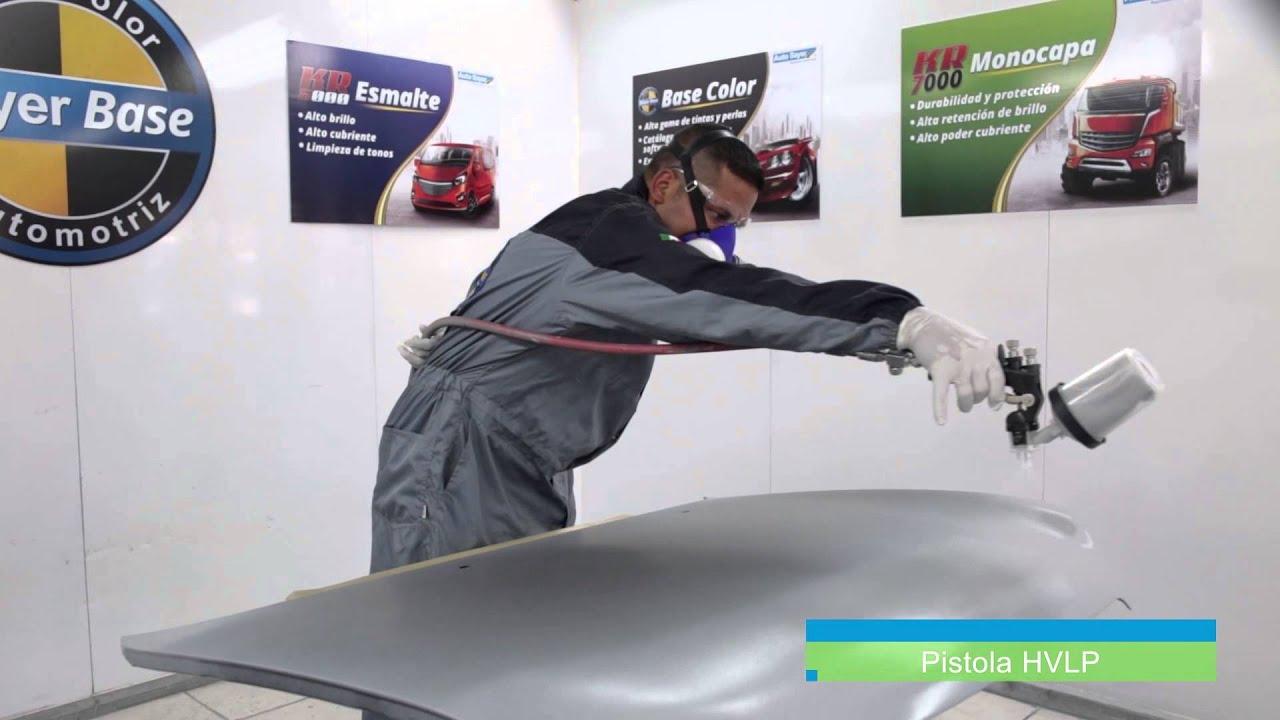Proceso de Repintado Automotriz monocapa en pieza nueva