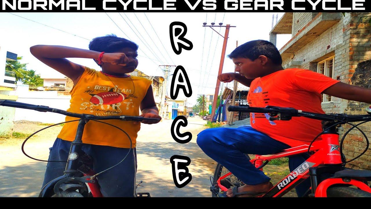 GEAR CYCLE VS NORMAL CYCLE - A Race scenario | Tamil Comedy Videos Bicycle Living Tamil