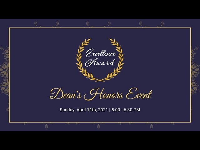 Dean's Honors Event