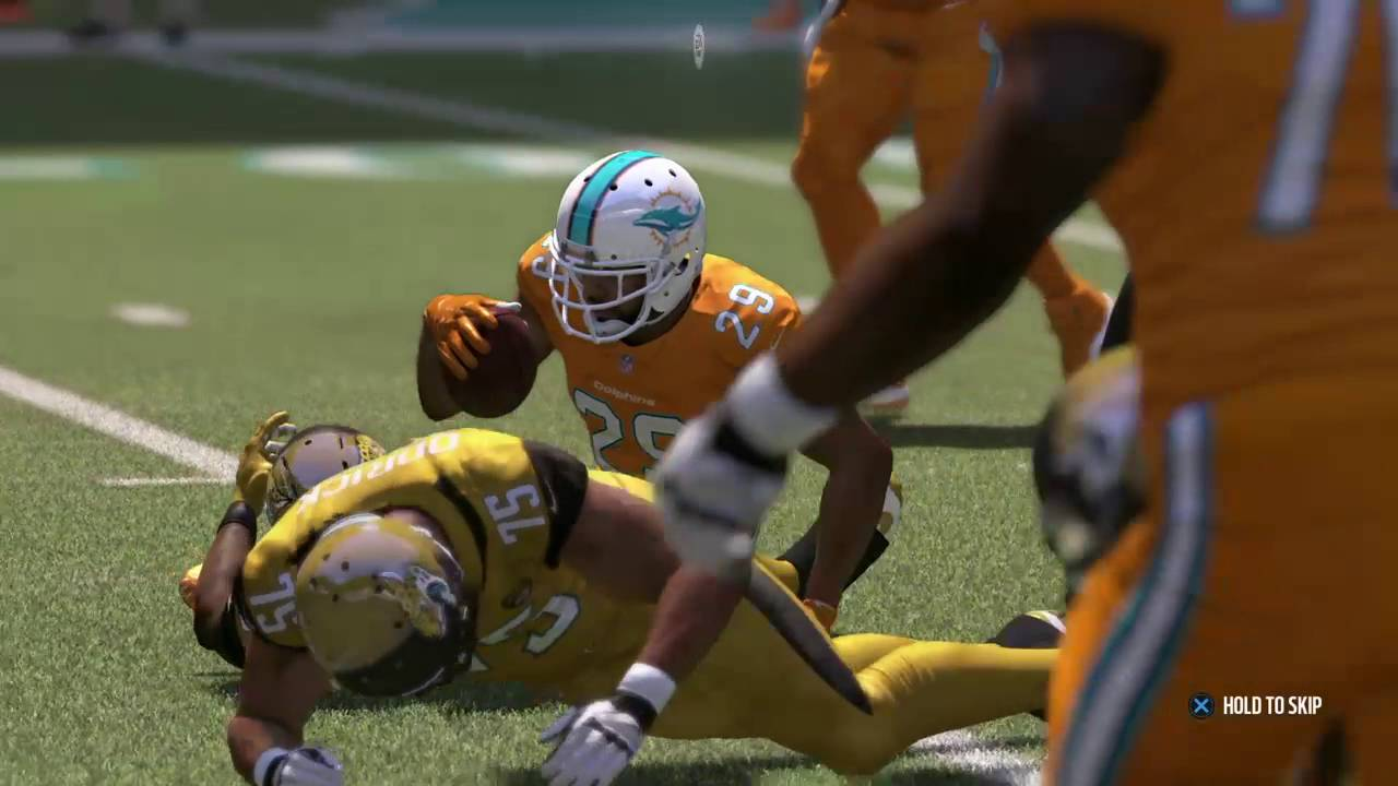 Madden 17 Color Rush Uniforms- Jaguars and Dolphins - YouTube 17049c23b
