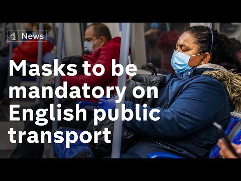 Wearing Face Masks Will Be Compulsory On Public Transport In England