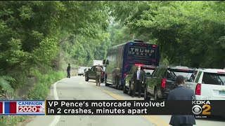 Vice President Mike Pence's Motorcade Involved In 2 Crashes Minutes Apart