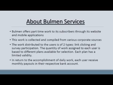 BULMEN   Part time Online Jobs Opportunity