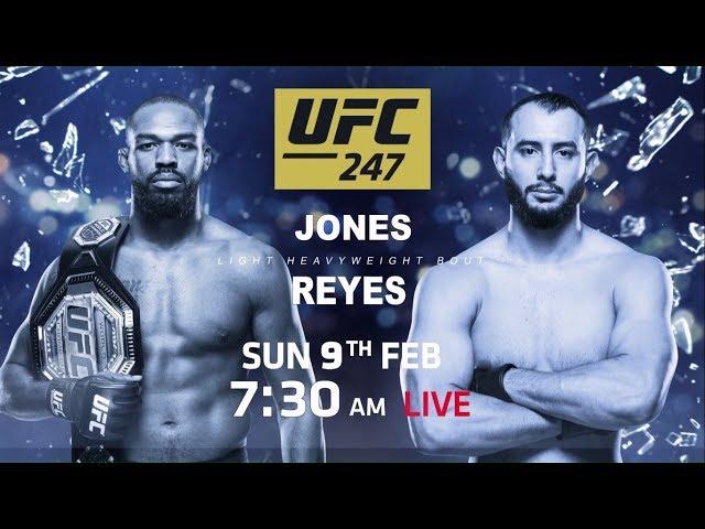 UFC 247 - Jones vs Reyes - Feb 9, 7:30 AM Onwards, Sony Ten 2 (English) & Sony Ten 3 (Hindi)