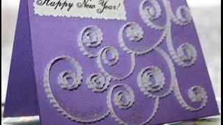 Простые новогодние открытки своими руками для детей и взрослых