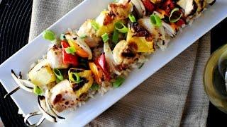 Grilled Hawaiian Chicken Kebabs