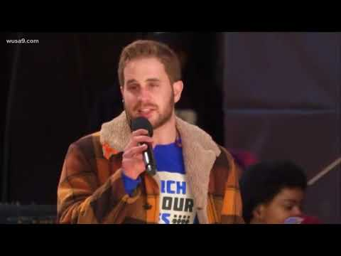 Hamilton creator Lin-Manuel Miranda & Ben Platt perform at MARCH FOR OUR LIVES Rally