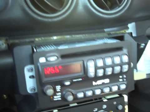 pontiac sunfire radio repair and removal 2000 2005