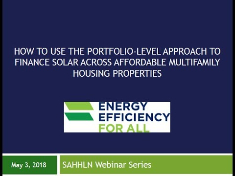 How to use the portfolio-level approach to finance solar across multifamily properties