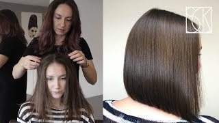 BOB HAIRCUT - tutorial by SANJA KARASMAN