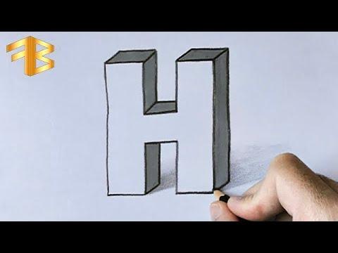 3 Boyutlu S Harfi Çizimi.  3 D Çizimler