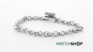 Icon Brand Jewellery Men's Silver Plated Corduroy Bracelet (P1342-BR-SIL)