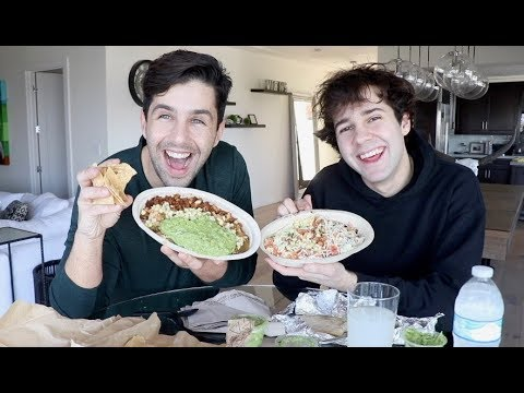 CHIPOTLE MUKBANG FT DAVID DOBRIK!!
