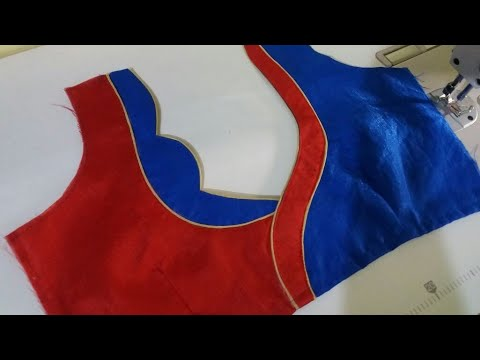 new model blouse design cutting and stitching at home