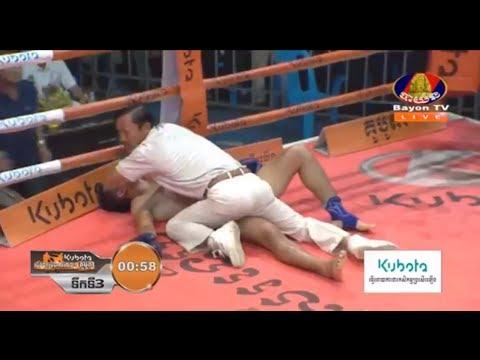 Chan Rathana vs Khaophong(thai), Khmer Boxing Bayon 23 June 2017, Kun Khmer vs Muay Thai