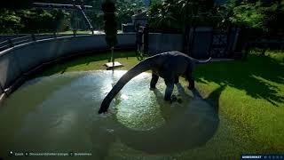T REX VS BRACHIOsaurus! Jurassic World Evolution!