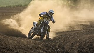 MADNESS AT 150km /h, SLIDING! -  FLAT TRACK SCHOOL [English Subtitles]