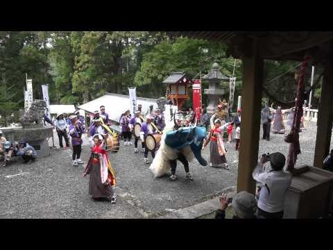 板沢しし踊り(2015北上みちのく...