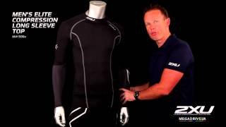 Мужская компрессионная элитная футболка с длинным рукавом МА1990а