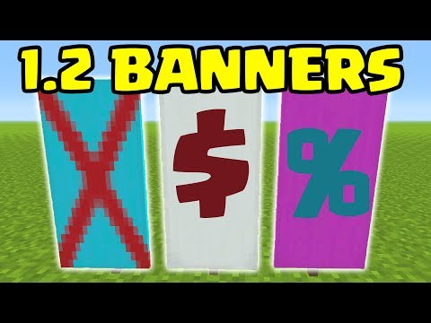 How To MAKE BANNERS In Minecraft Pocket Edition 1.2 Update // Minecrafft PE 1.2 BANNERs