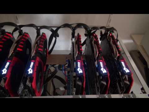 3.300 H/s Mining Rig  im Selbstbau für Monero / Etherium mit Linux