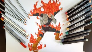 Drawing  Might Guy (8th gate) from NARUTO