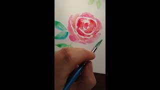 Quick wet in wet roses demo