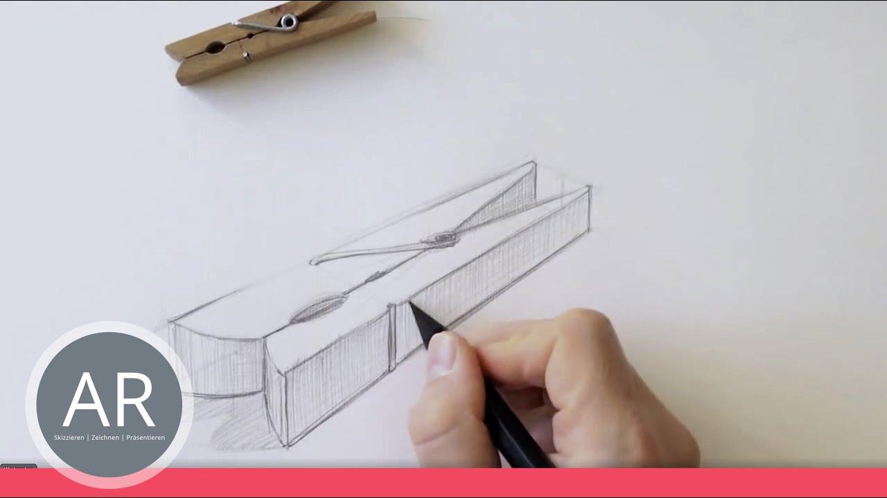 Zeichnen Lernen Grundform Als Ausgangsform Eines Objektes