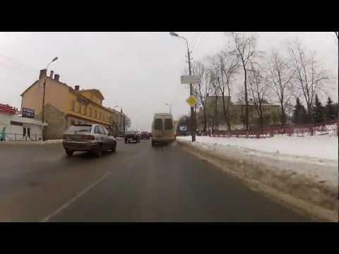 Driving through Pskov (21.01.2012) [HD]
