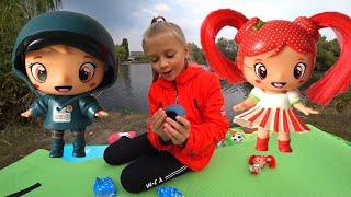 ВЛОГ Ярослава учится рыбачить - Улов и распаковка малышей в мороженом | Видео для детей